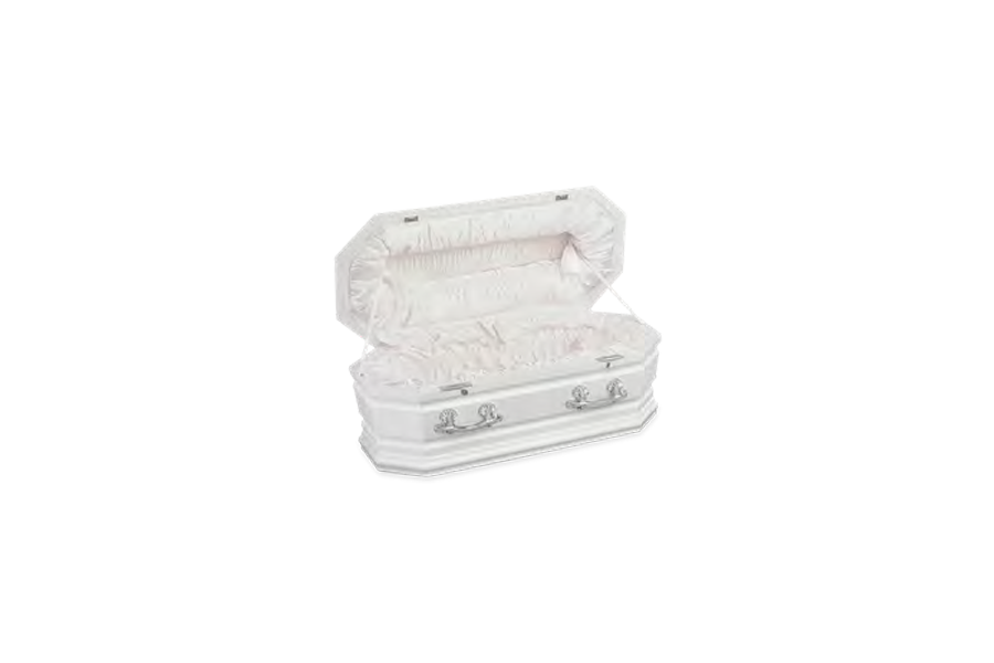 <h2>Childrens Grecian Urn Casket Open </h2><span>SOLID TIMBER COFFIN</span>