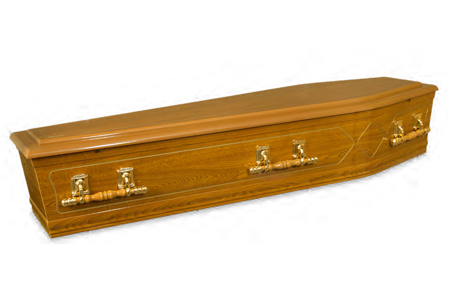 <h2>Dome Goldline</h2> <span>SOLID TIMBER COFFIN</span>