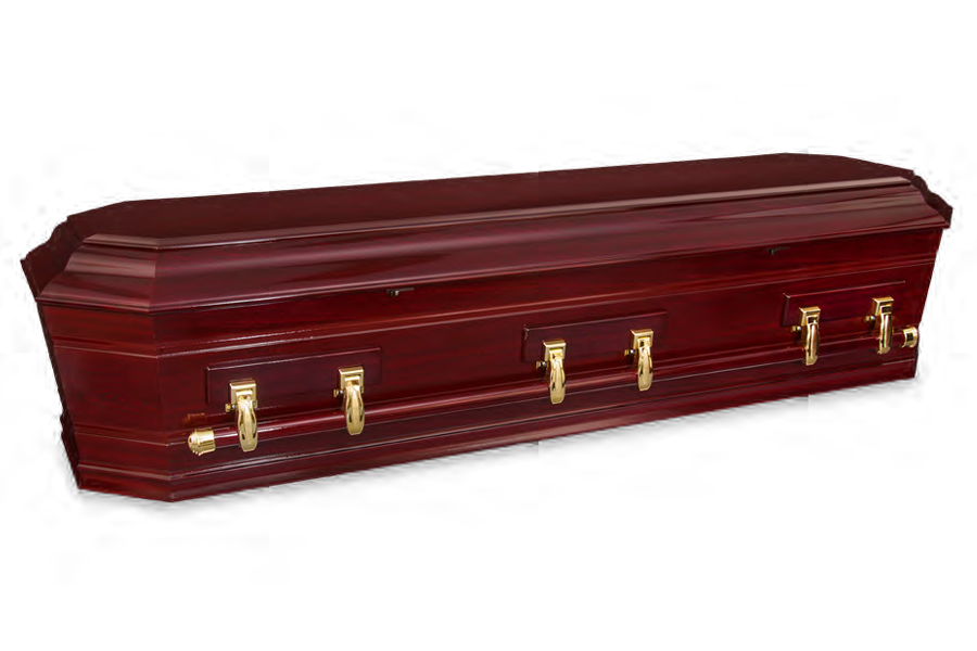 <h2>Grecian Urn Rosewood</h2><span>SOLID TIMBER COFFIN</span>