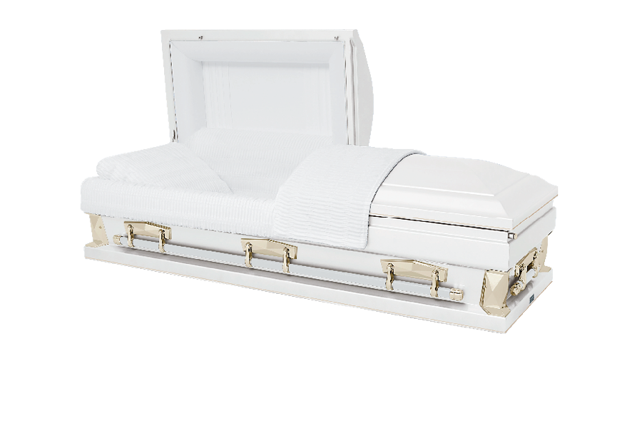 <h2>New Pointe Hercules White Oversize</h2><span>SOLID TIMBER COFFIN</span>
