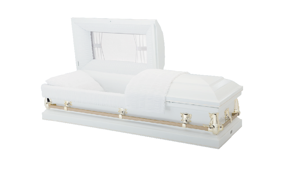 <h2>New Pointe Spectra White</h2><span>SOLID TIMBER COFFIN</span>