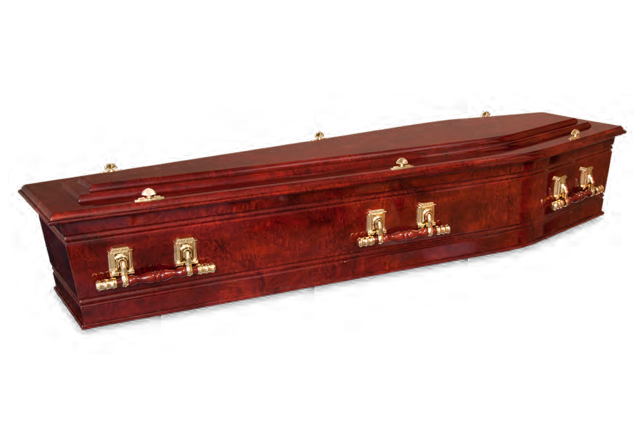 <h2>Sovereign Redgum</h2><span>SOLID TIMBER COFFIN</span>