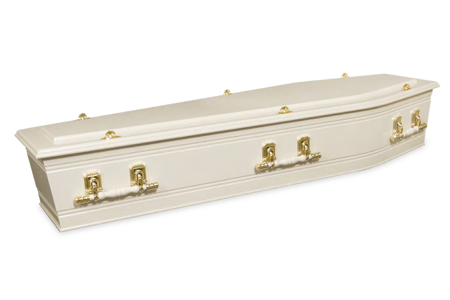 <h2>Swan Cream</h2><span>SOLID TIMBER COFFIN</span>